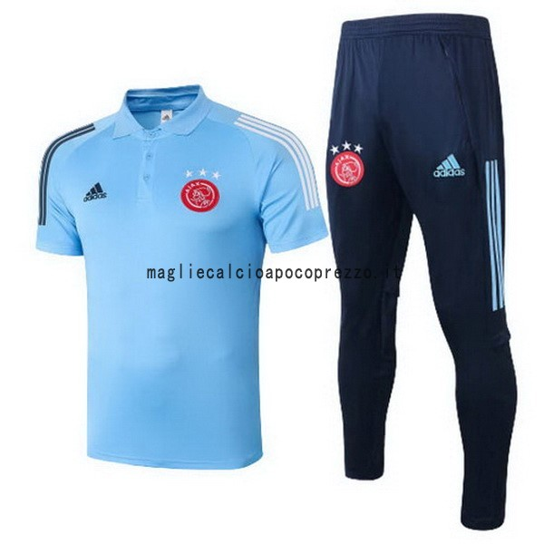 Set Completo Polo Ajax 2020 2021 Blu