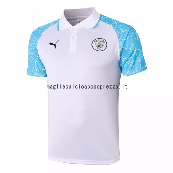 Polo Manchester City 2020 2021 Bianco Blu
