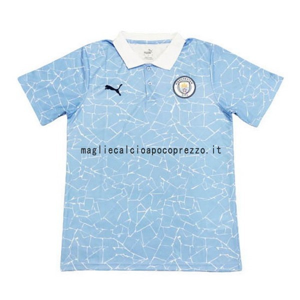 Polo Manchester City 2020 2021 Blu Bianco