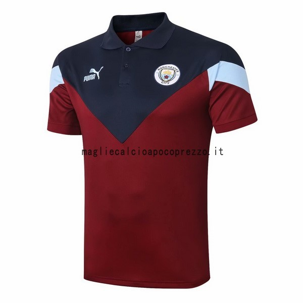 Polo Manchester City 2020 2021 Borgogna