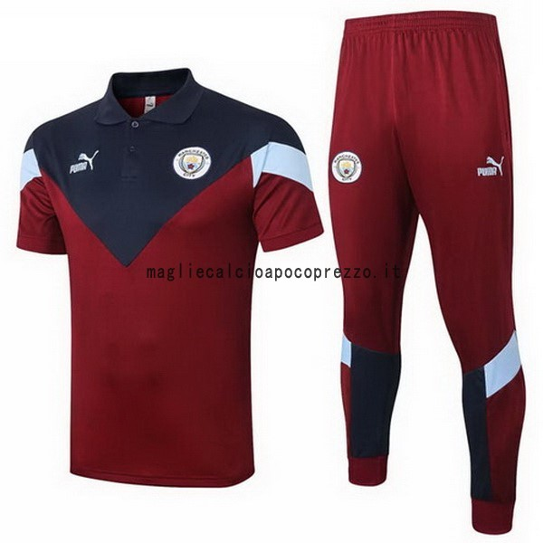 Set Completo Polo Manchester City 2020 2021 Borgogna