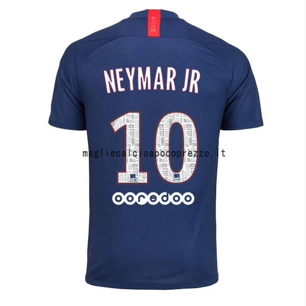 NO.10 Neymar JR Prima Maglia Paris Saint Germain 2019 2020 Blu