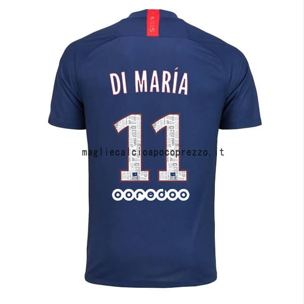 NO.11 Di Maria Prima Maglia Paris Saint Germain 2019 2020 Blu