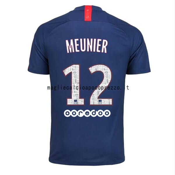 NO.12 Meunier Prima Maglia Paris Saint Germain 2019 2020 Blu