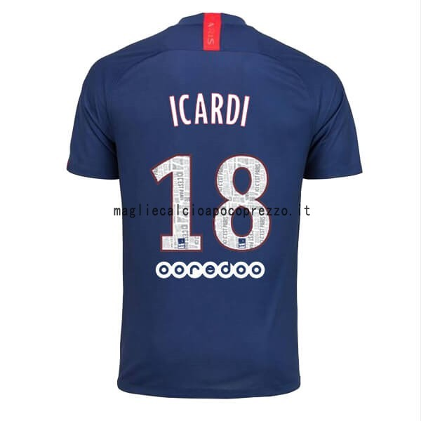 NO.18 Icardi Prima Maglia Paris Saint Germain 2019 2020 Blu