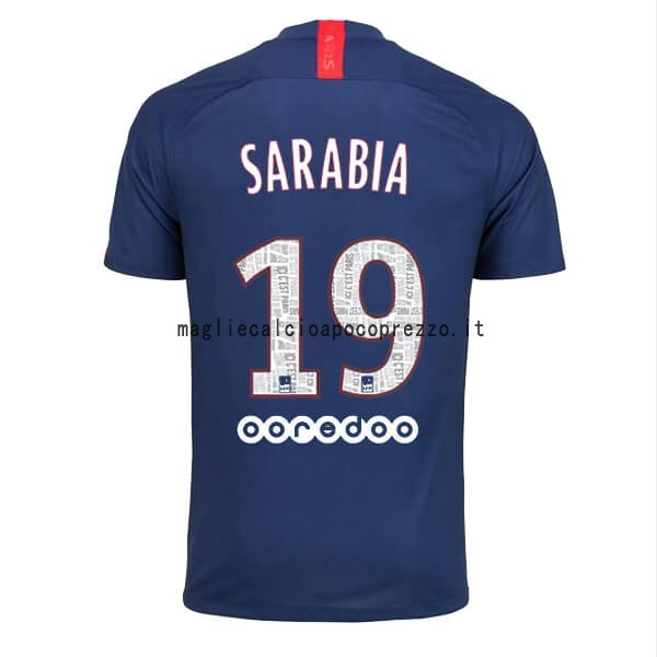 NO.19 Sarabia Prima Maglia Paris Saint Germain 2019 2020 Blu