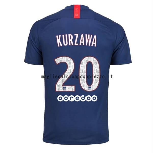 NO.20 Kurzawa Prima Maglia Paris Saint Germain 2019 2020 Blu