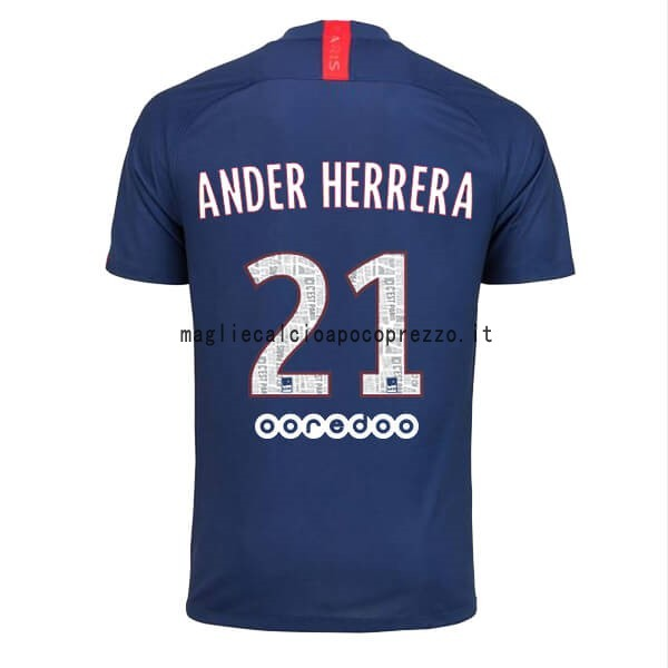 NO.21 Ander Herrera Prima Maglia Paris Saint Germain 2019 2020 Blu