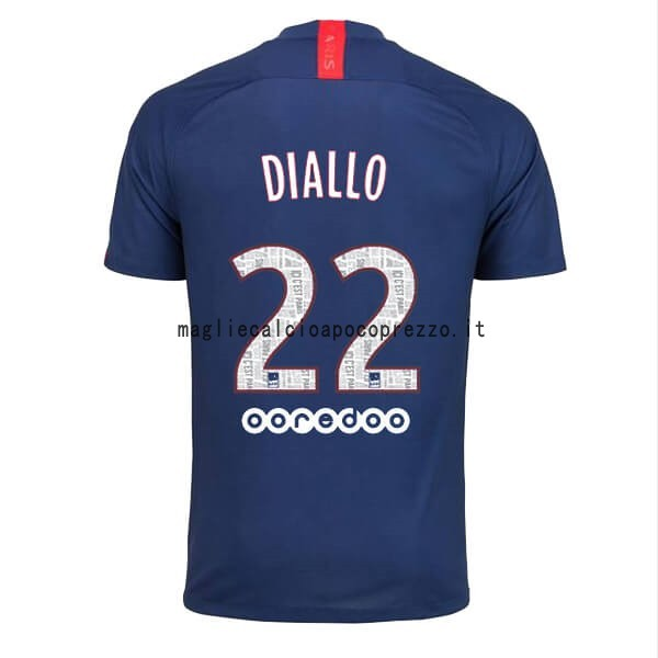 NO.22 Diallo Prima Maglia Paris Saint Germain 2019 2020 Blu