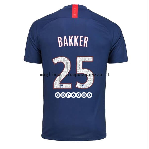 NO.25 Bakker Prima Maglia Paris Saint Germain 2019 2020 Blu