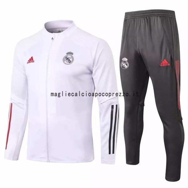 Giacca Real Madrid 2020 2021 Bianco Grigio Rosso