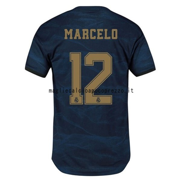 NO.12 Marcelo Seconda Maglia Real Madrid 2019 2020 Blu