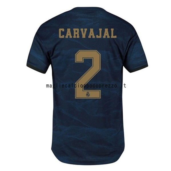 NO.2 Carvajal Seconda Maglia Real Madrid 2019 2020 Blu